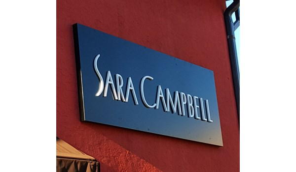 3D Aluminum Letters Architectural at Sara Campbell